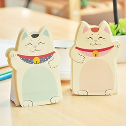 Notepad Cats Canada - 20 Pcs Lot Fortune Cat Memo Pad Sticky Notes Notepad Wholesale Stationery Novelty Households Office School Supplies