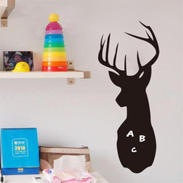 Deer Wall Stickers Decal NZ - DIY DEER Chalkboard   Blackboard Wall Decal Sticker Kids Room Decor Students Gift Diamond Level