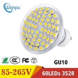 12v heat lamp 2019 - LED lamp Full Watt GU10 AC110V Heat-resistant Glass Body 3528 SMD 60LEDs 550-600LM LED Spotlight Bulbs light discount 12