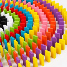 $enCountryForm.capitalKeyWord NZ - 120pcs set Children Color Sort Rainbow Wood Domino Blocks Kids Early Educational Wooden Toys Gifts for Children Set