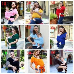 Hipseat Carrier Infant NZ - Baby Wrap Carrier Infant Breastfeed Gear Sling Kids Breastfeeding Hipseat Newborn Backack Baby Stretchy Strollers Carrier Sling b1347