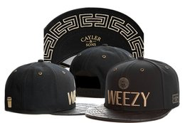 Wholesale CAYLER SONS C S Goldie Cap Cayler and Sons C S Goldie Weezy Hats Best Quality Snapback Caps Beanie Strapback Hat Headwear Black