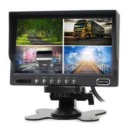 $enCountryForm.capitalKeyWord UK - 7inch Rear View Monitor Car Monitor 4 Split Quad LCD Screen Display DC12V-24V for Monitoring System