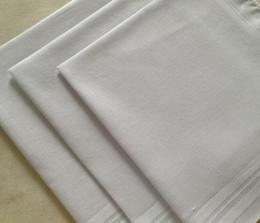Toptan satış 24pcs / lot% 100 Pamuk Saten Mendil Beyaz Renk Tablosu Mendil Süper Yumuşak Cep Römorkörlerinin Kareler 34cm