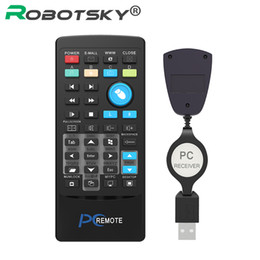 $enCountryForm.capitalKeyWord UK - Wholesale- USB Media IR Wireless Mouse Remote Control Controller with Battery USB Receiver For Loptop PC Computer Center Windows Xp Vista