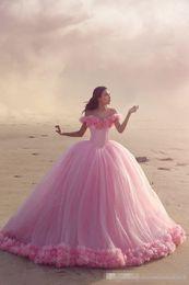 $enCountryForm.capitalKeyWord Canada - Hot Sale 2016 Arabic Princess Ball Gowns Off the Shoulder Corset Custom Made Vestidos De Novia Summer Beach Bridal Gowns Hand Made Flowers