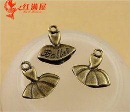 $enCountryForm.capitalKeyWord Canada - 15*14*3MM Antique Bronze alloy ballet dancer skirt dress charms for bracelet, vintage metal pendants for necklace, tibetan jewelry making