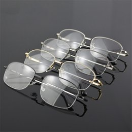 097b76be982 Wholesale- New Arrival Memory Titanium Glasses Half Frame Optical  Eyeglasses Frame Men Retro Half-frame Glasses Prescription Optical Frames