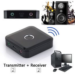 China Freeshipping 2 in 1 3.5mm Wireless Bluetooth Receiver Bluetooth Transmitter Audio Music Adapter Bluetooth 4.0 Receiver For Speaker MP3 suppliers