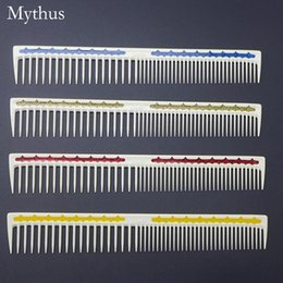 $enCountryForm.capitalKeyWord NZ - 4 Colors Resin Hairdressing Comb Professional Japanese Hair Cut Comb Unbreakable Styling Hair Comb For Hairdressers L-04