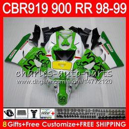 $enCountryForm.capitalKeyWord Canada - Body For HONDA CBR 919RR CBR900RR CBR919RR 98 99 CBR 900RR Green white 68HM13 CBR919 RR CBR900 RR CBR 919 RR 1998 1999 Fairing kit 8Gifts