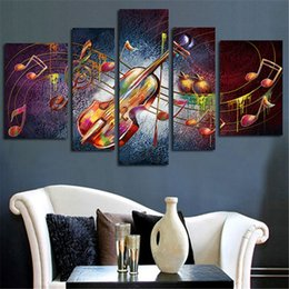$enCountryForm.capitalKeyWord Canada - 5 Panel Guitar Music Canvas Painting Unframed Modern Art Wall Pictures for Drawing room Personalized Gifts Free shipping