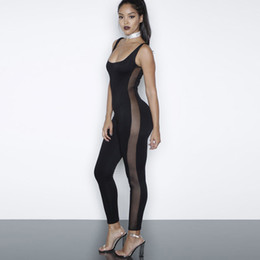 972f2648a Sexy Sleeveless Long Rompers Jumpsuit Plus Size Womens Jumpsuit Combinaison  Femme Black White Sexy Mesh Patchwork Bodysuit Overalls WT72912