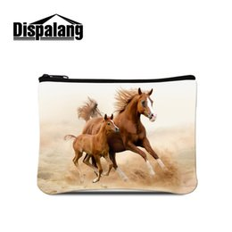 cheap zipper pouches NZ - Wholesale- Dispalang Cheap Coin Purse for Women Horse Design Coin Wallet Bags for men Girls small pouch purse animal zippered coin pouch