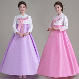 traditional korean women clothing Canada - New Arirval Korean Traditional Hanbok Dress Women Dance Costume Clothing