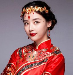 $enCountryForm.capitalKeyWord NZ - Beautiful Bride ancient headdress Chinese ornaments red costume hair accessories XT10020