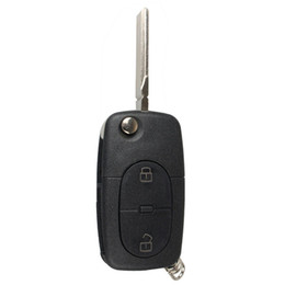 Audi Car Remote Canada - 2 button Key Blank Fob Shell Case Remote Flip Folding Replacement For Audi TT A2 A3 A4 A6 A8 S6 Tire Pressure Alarm car-styling