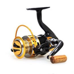 2017 Métal Spinning Moulinet De Pêche 12BB 5.5: 1 Pêche Carrete Spinning Reel Feeder Carpe De Pêche Roue 2000-7000 Livraison Gratuite