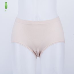 Wholesale Cotton Knickers Canada - Promotion GUIYI 48% Cotton Women's Seamless Underwear Basic Briefs For Mother Femme Slim Elastic Lingerie Ladies Knickers