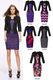 $enCountryForm.capitalKeyWord Canada - New women pencil dresses lady office skirts women work dress suit fashion spring clothes 3 4 sleeve emprie with belt bodycon OL-9002
