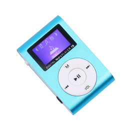 China Wholesale- 1pc MP3 Player LCD Screen Metal Mini Clip MP3 Player with Micro TF SD Slot with Earphone and USB Cable Portable MP3 Music Play cheap earphone metal screen suppliers