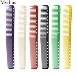 red black curly hair 2019 - Japan Professional Salon Hair Cutting Comb,6 Pcs Lot YS Durable Hairdresser Barbers Haircut Comb,6 Colors Could Be Choos