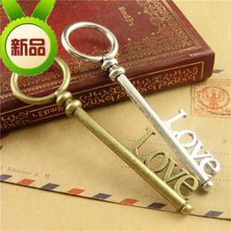 $enCountryForm.capitalKeyWord NZ - 85*24MM DIY retro key charms jewelry accessories, wholesale Antique Handmade Bag Love word tibetan silver metal vintage key pendant China