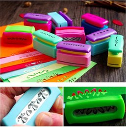 Barato Laço Da Borda Diy-Atacado- Creative DIY Border Paper Punch Embossing Edge Lace Punch para cartão Scrapbooking Punches Kids Handmade Embossers Craft gift