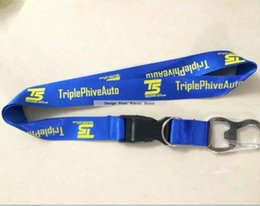 Wholesale Custom beer opener neck strap cheap customized logo printed lanyards promotion actitives gift neck lanyard direct strap supplier