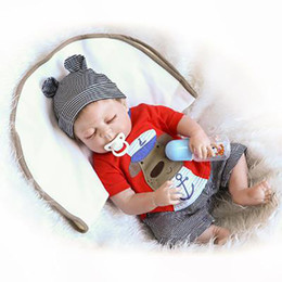 $enCountryForm.capitalKeyWord NZ - Full Body Silicone Reborn Baby Sleeping Doll Soft Vinyl Lifelike Newborn Boy Doll Realistic Baby Puzzle Recycling Doll Toy