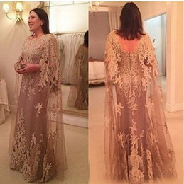 Women formal sleeve dresses online shopping - Formal Mother of the Bride Dresses Long Tulle Lace Plus Size appliques Women Party Dresses Evening Wear wedding guest dress