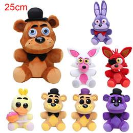 Animal Purple Doll Canada - 1pcs 18cm Five Nights At Freddy's FNAF Freddy Fazbear Bear & Foxy Plush Toys Doll Soft Stuffed Animals Toys for Kids Xmas Gifts