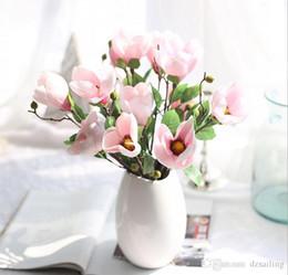 Shop wholesale artificial magnolia flowers uk wholesale artificial wholesale artificial magnolia flowers uk 3 colors artificial 2 head magnolia kapok flower spray silk mightylinksfo