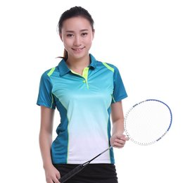 Polo Sportswear Australia - New Sportswear Quick Dry Breathable Badminton Shirt Women Men Table Tennis Clothes Team Game Training Short Sleeve POLO T Shirts