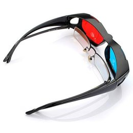 Chinese  Wholesale- 5pcs Red Blue Red-blue glasses Cyan 3D Myopia & General VISION Game Stereo Movies Dimensional Anaglyph Plastic Glasses manufacturers