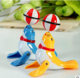 Kids Dolphin Toys Canada - Wholesale 3pcs a lotSmall dolphins top ball Wind-up Toys 360 degree rotation Novelty & Gag Toyschildren toy gift hot sale