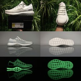 Super Boost Pas Cher-2017 Super Quality A +++ Sneakerboy x Wish x Pure Boost Jellyfish Glow in the dark S80981 Sneakers Primeknit Real Boost Running Shoes 39-45