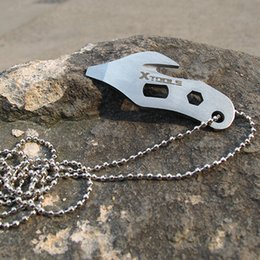 $enCountryForm.capitalKeyWord NZ - Camping EDC Kit, Outdoor Stainless Steel Multi-functional EDC Gear Tools Rope-cutter Bottle-opener Key Chain Necklace Travel Kits