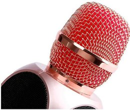 Magic Handle NZ - Factory sale E103 design karaoke microphones dual speaker magic microphone HANDLED MIC singing songs conference player for samsung htc