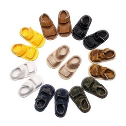 baby moccasins soft sole NZ - 2017 Summer Baby Pu Leather Sandals Moccasins Camouflage Girls Boy First Walker Baby Sandals Soft Sole Toddler Shoes