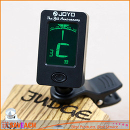 Discount digital bass guitar - JOYO Guitar Tuner Rotatable Clip Mini Digital LCD Clip-on Tuner for Chromatic Guitar Bass Violin Ukulele C Ukulele