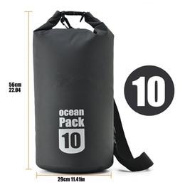 4f738b036095 High Quality 10L Waterproof Dry Bag Ocean Pack Adjustable Shoulder Strap Boating  Kayaking Fishing Rafting Camping Canoeing Snowboarding Bags