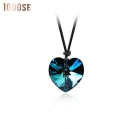 Genuine Swarovski Jewelry UK - 2017 new A genuine using SWAROVSKI Elements Crystal Necklace - Dream peach handmade necklace jewelry wholesale sale