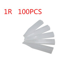 Wholesale Wholesale-100 pieces 1r round Permanent Makeup Tattoo Tips Pre-sterilized Disposable machine side hole needle tips Supply Free Shipping