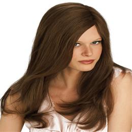 $enCountryForm.capitalKeyWord UK - Full Lace Wigs Human Hair indian wig Full Lace Human Hair Wig Senior Silk Long Wavy Brazilian Virgin Hair 100% With Bangs For women Color 6#