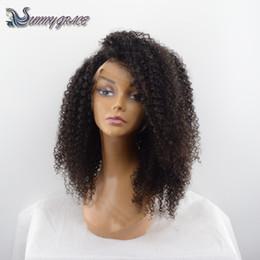 African Kinky Wigs Canada - afro kinky curly human hair wigs for black women brazilian lace front wig kinky curly glueless full lace wig african american wigs