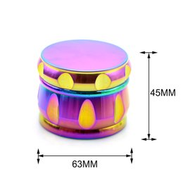 $enCountryForm.capitalKeyWord NZ - Colorful Grinders For Smoking Tobacco 63MM 4Layers Rainbow CNC Alloy Zinc Crusher Grinder Herb Smoking Spice Cracker Free Shipping DHL