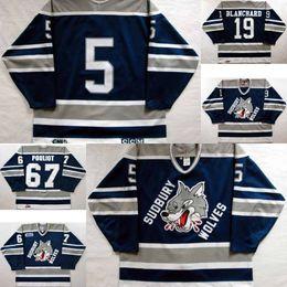 4bf268af0 Customize OHL Sudbury Wolves Jersey Mens Womens Kids 5 Mike Wilson 19  Trevor Blanchard 67 Benoit Pouliot Hockey Jerseys Goalit Cut Hot sale