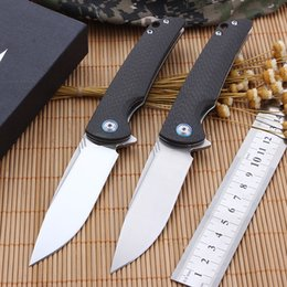 Vg Pocket NZ - CH3510 Folding Knife With Carbon fiber Handle Pocket Knife With VG-10 Blade Survival Knife free shipping Camping tool For Men Gift