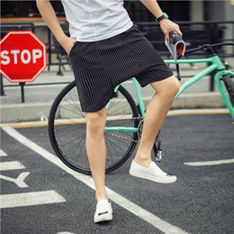 Urban Clothes For Men Australia - Wholesale-Summer Mens Drop Crotch Shorts Baggy Loose Stripe Hip Hop Urban Clothes Joggers Harem Shorts For Male